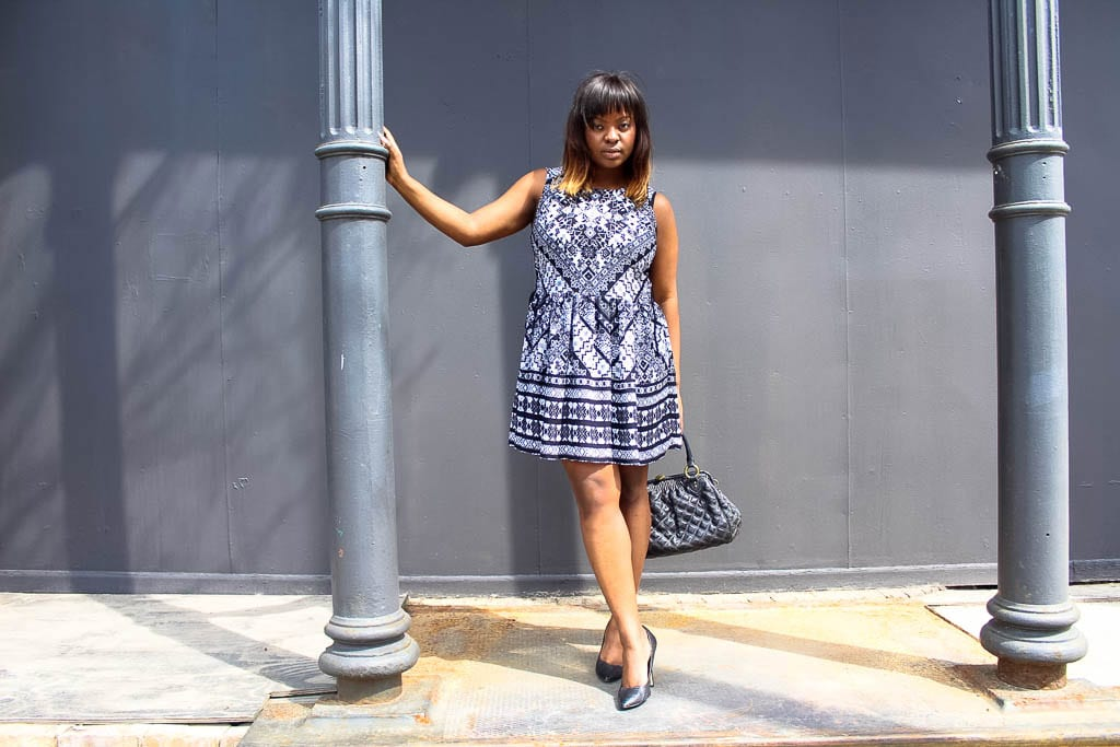 Paisley Black & White Dress