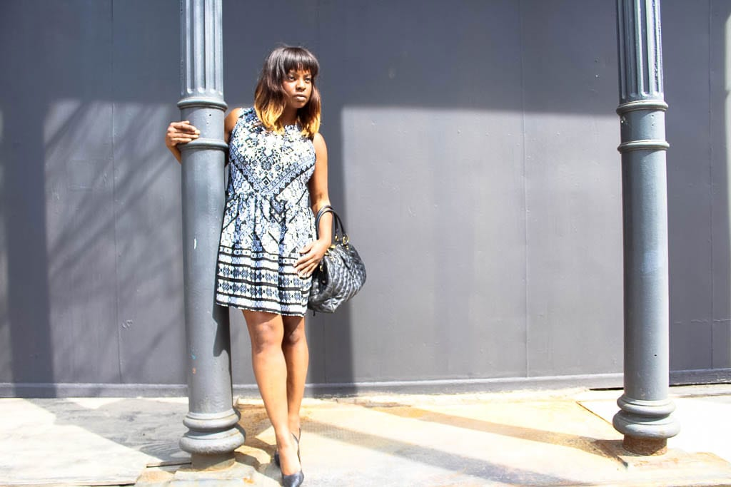 Paisley Black & White Spring Dress